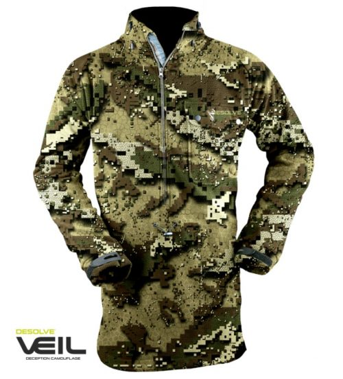 Hunter Elem rugged bush coat veil (Custom)