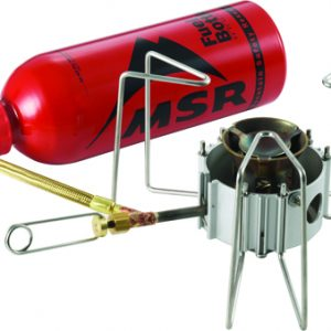 MSR Dragonfly Stove with fuel bottle