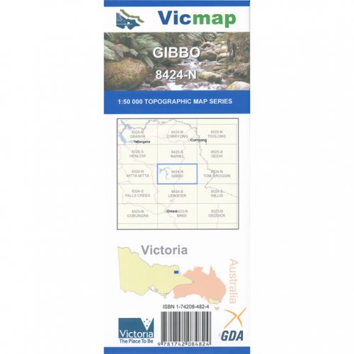 VICMAP - Gibbo 8424n - Adventure and Exploration Map
