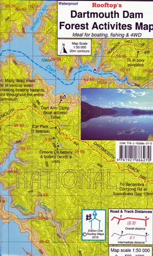 Dartmouth Dam Rooftop Map - HuntShop Australia on