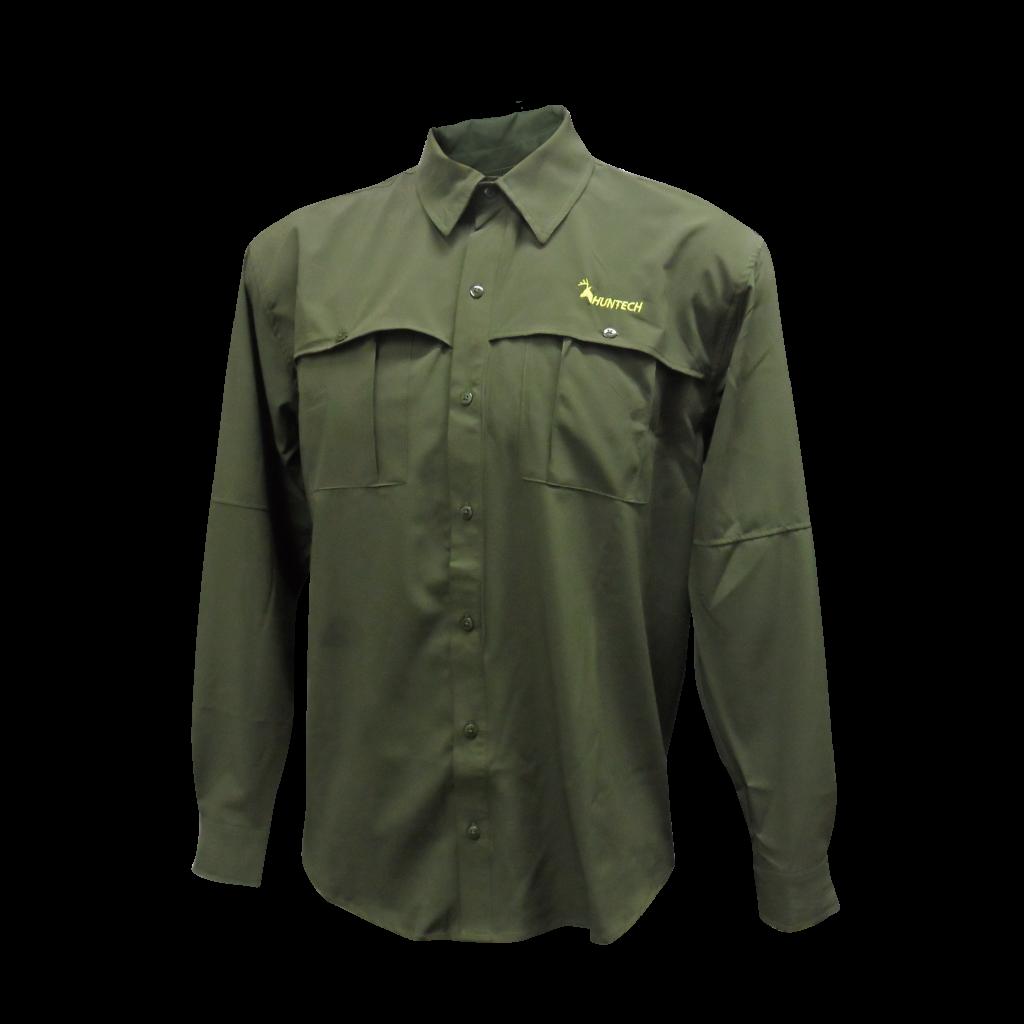 Huntech Outback L/Sleeve Shirt Green